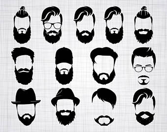 png freeuse stock Etsy . Beard clipart vector