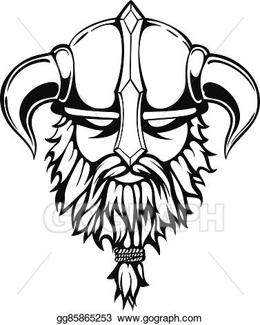 vector black and white download Beard clipart viking. Vector stock graphic image