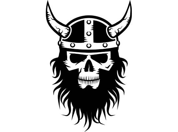 black and white stock Transparent . Beard clipart viking.