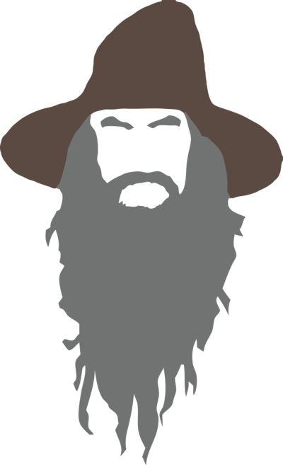 png free Gandalf clip art library. Beard clipart wizard.