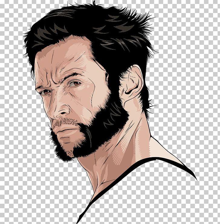 image free stock Hugh jackman logan png. Beard clipart wolverine