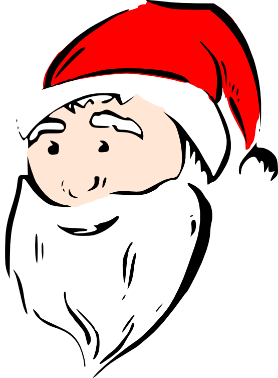 clip art library stock Beard clipart xmas. Christmas black and white.