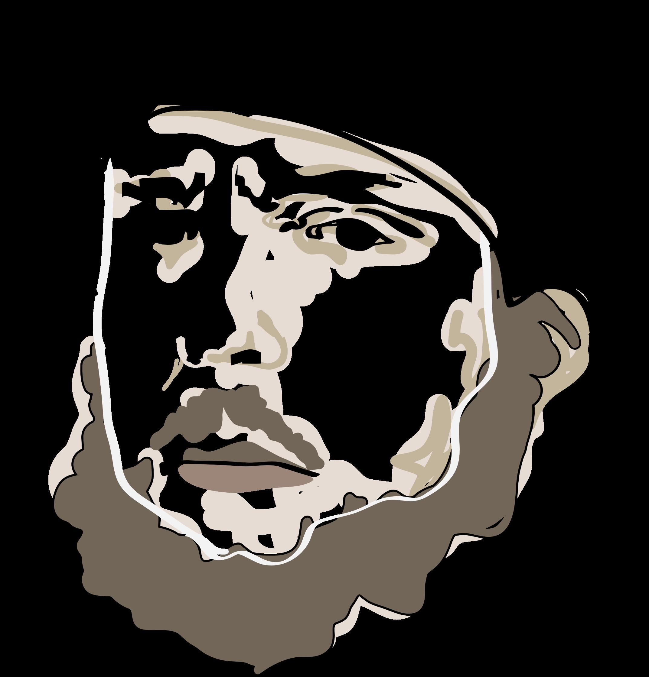 clip transparent library Beard clipart man portrait. Bearded big image png