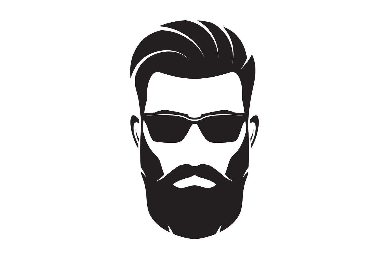 picture transparent stock Bearded men face hipster. Beard clipart mens