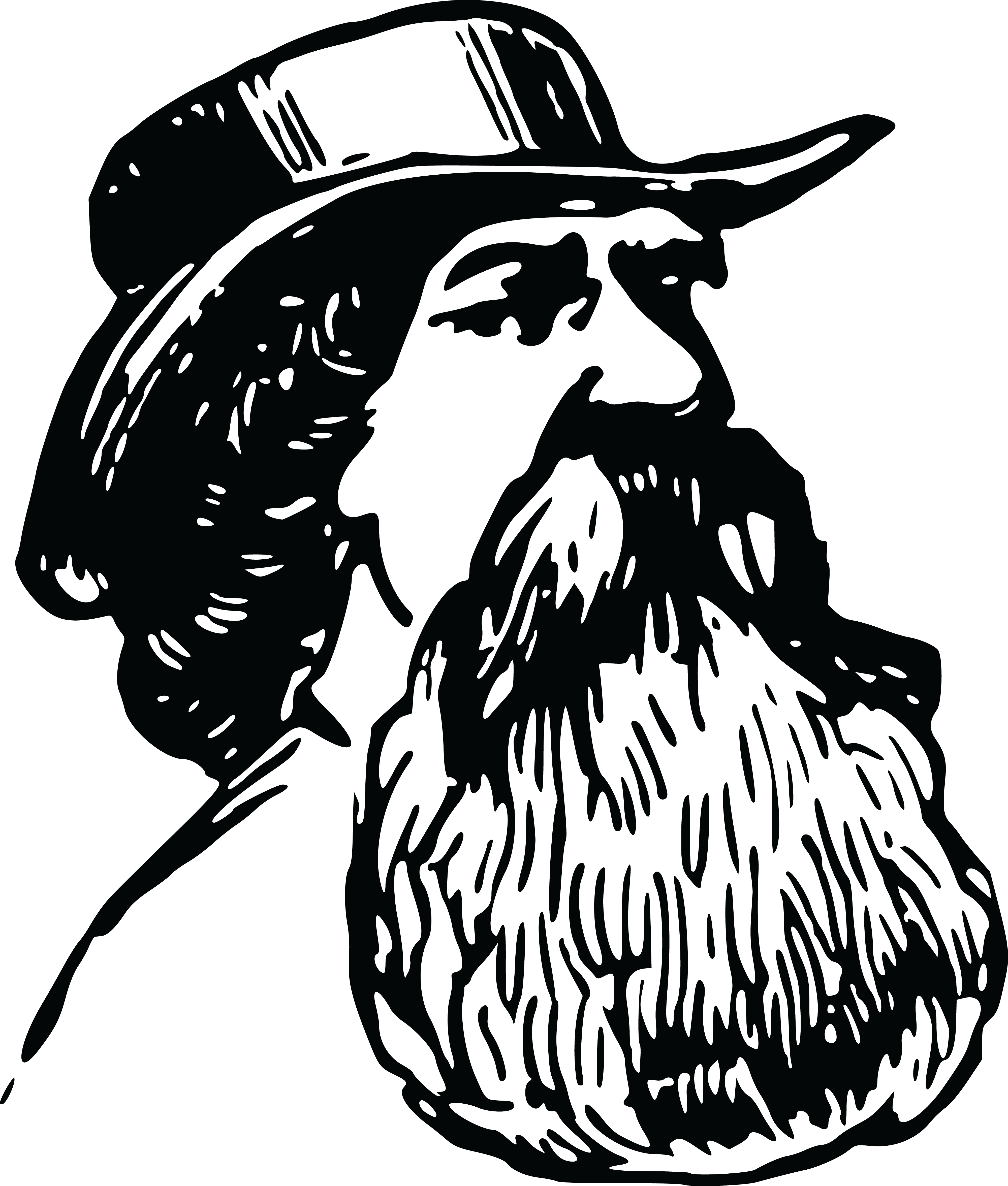 banner black and white Beard clipart black and white. Bearded man drawing at