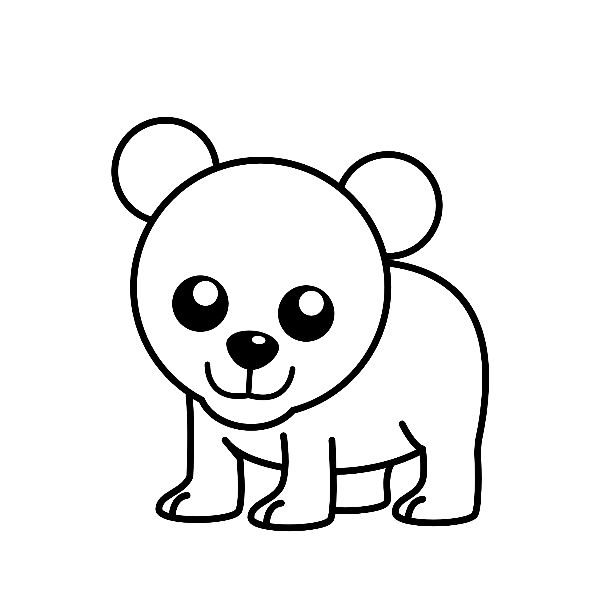 picture free Best bear panda free. Black and white quilt clipart