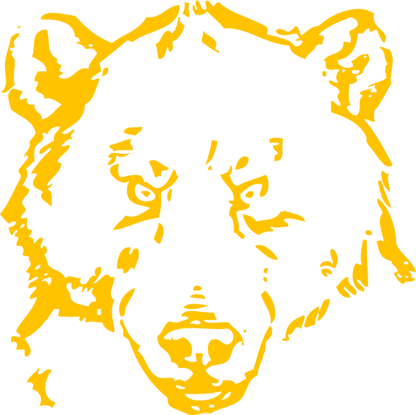 picture royalty free download Golden Bear Clip Art at Clker