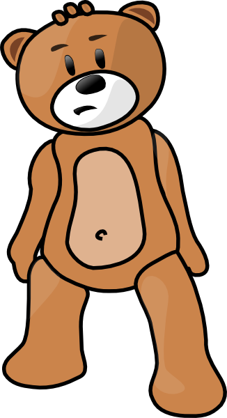 svg transparent Free Teddy Bear Clipart