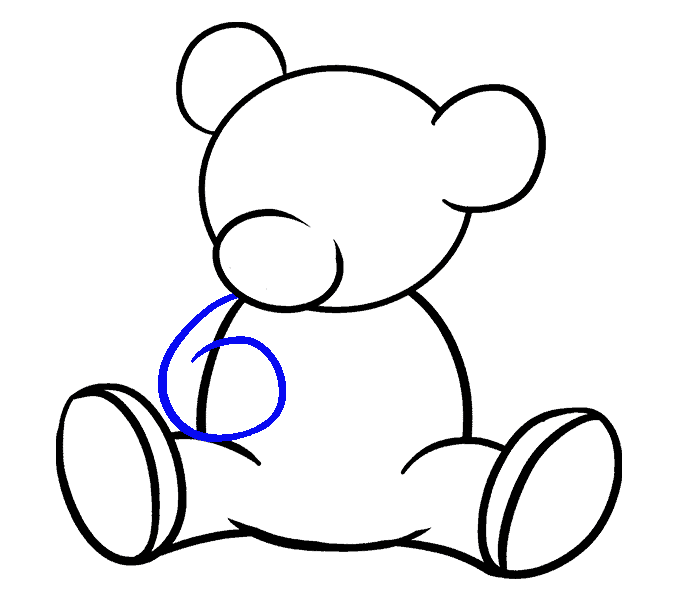 svg black and white How to Draw a Cartoon Bear in a Few Easy Steps