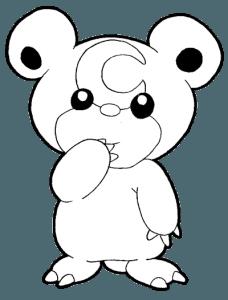 black and white stock How to draw teddiursa. Bears drawing