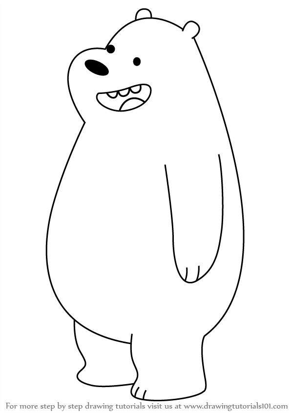 clip royalty free library Bears drawing. Learn how to draw