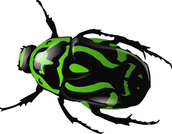 clipart black and white stock Green clip art at. Beetle clipart.