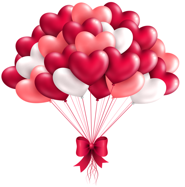 clip library Beautiful heart balloons png. Anime clipart valentines day.
