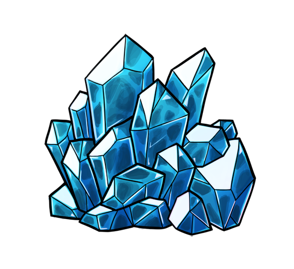 png freeuse library Art crystal crystals draw. Beautiful clipart blue object.