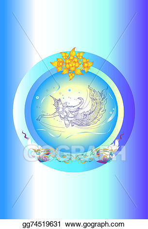 clipart freeuse library Beautiful clipart blue object. Stock illustration fish lady.