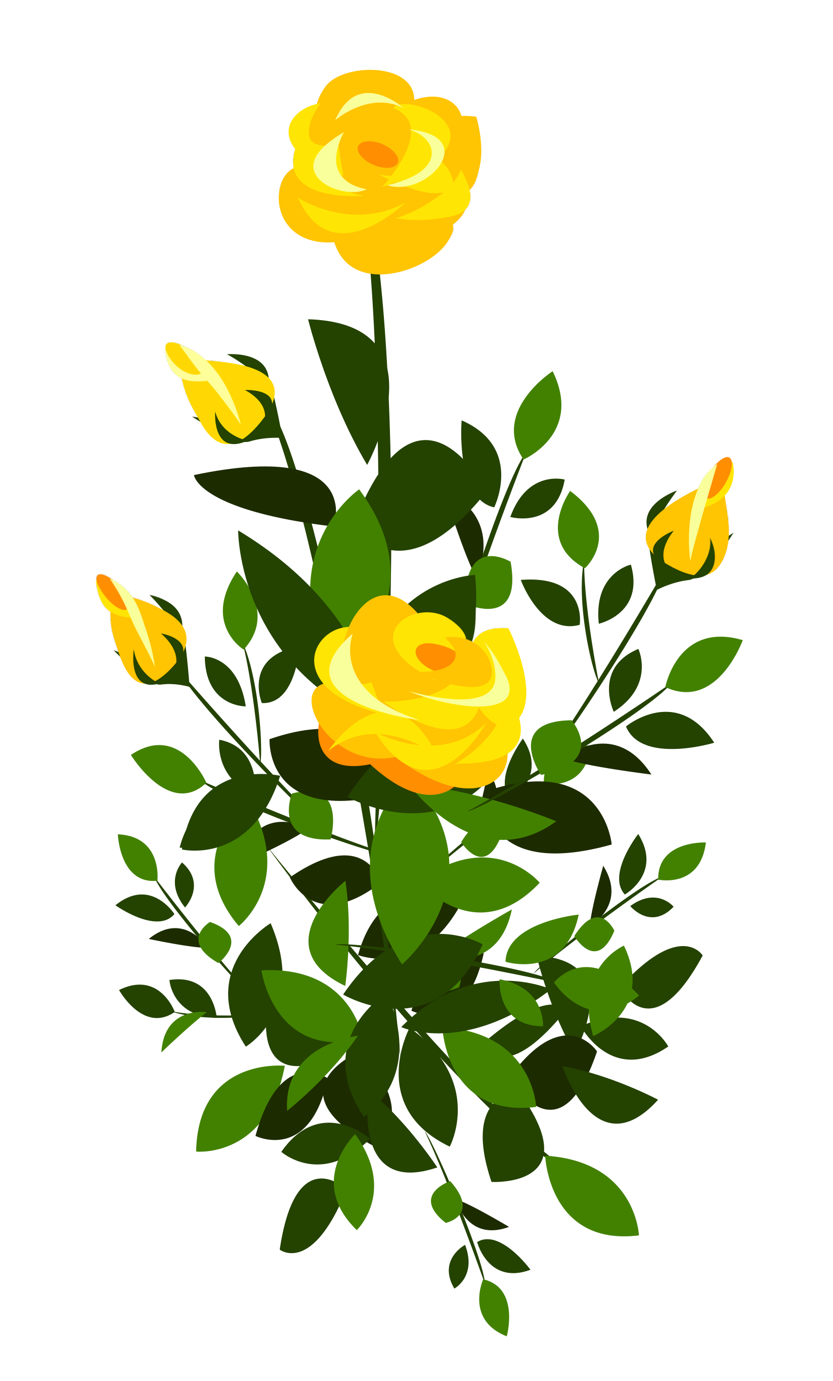 svg freeuse download Beautiful clipart dead rose. Bush plant free on.