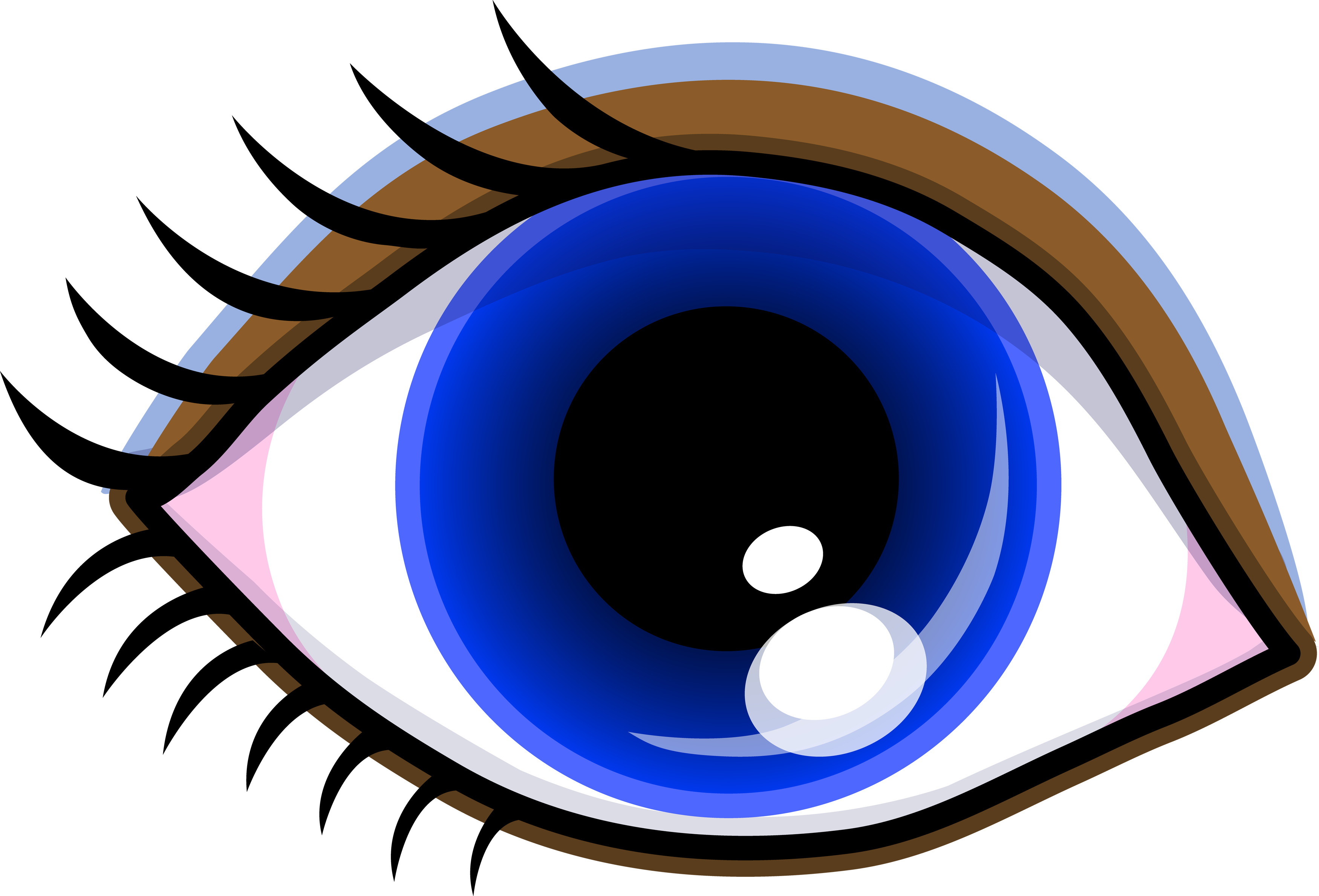 svg black and white library Blue Eyes Clipart