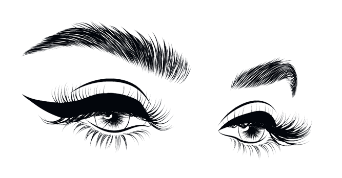 banner black and white download Eye brow png