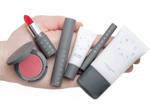 vector library Beauty vector makeup item. Every day kit stowaway
