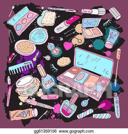 jpg download Clipart products for make. Beauty vector makeup item