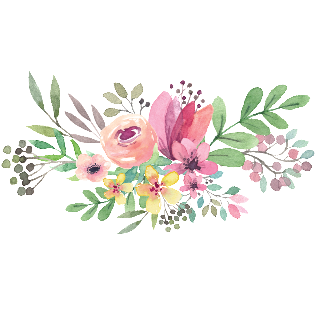 svg black and white download Watercolor flower bouquet graphic library stock