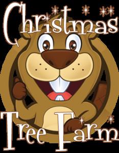 clip black and white Beavers tree farm paul. Beaver clipart christmas