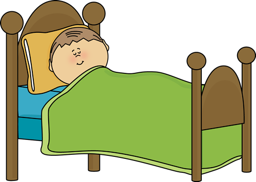 clip free stock Boy sleeping in . Bed clipart.