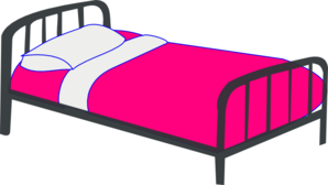 vector free download Pink . Bed clipart.