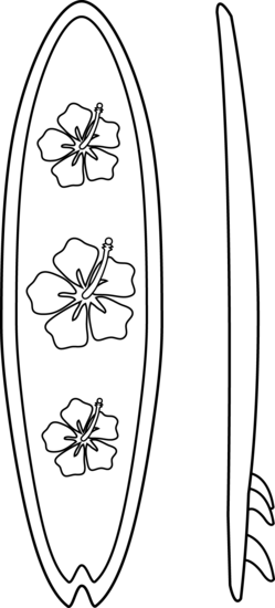 clip art black and white stock Surf board coloring pages. Bed clipart colouring page.
