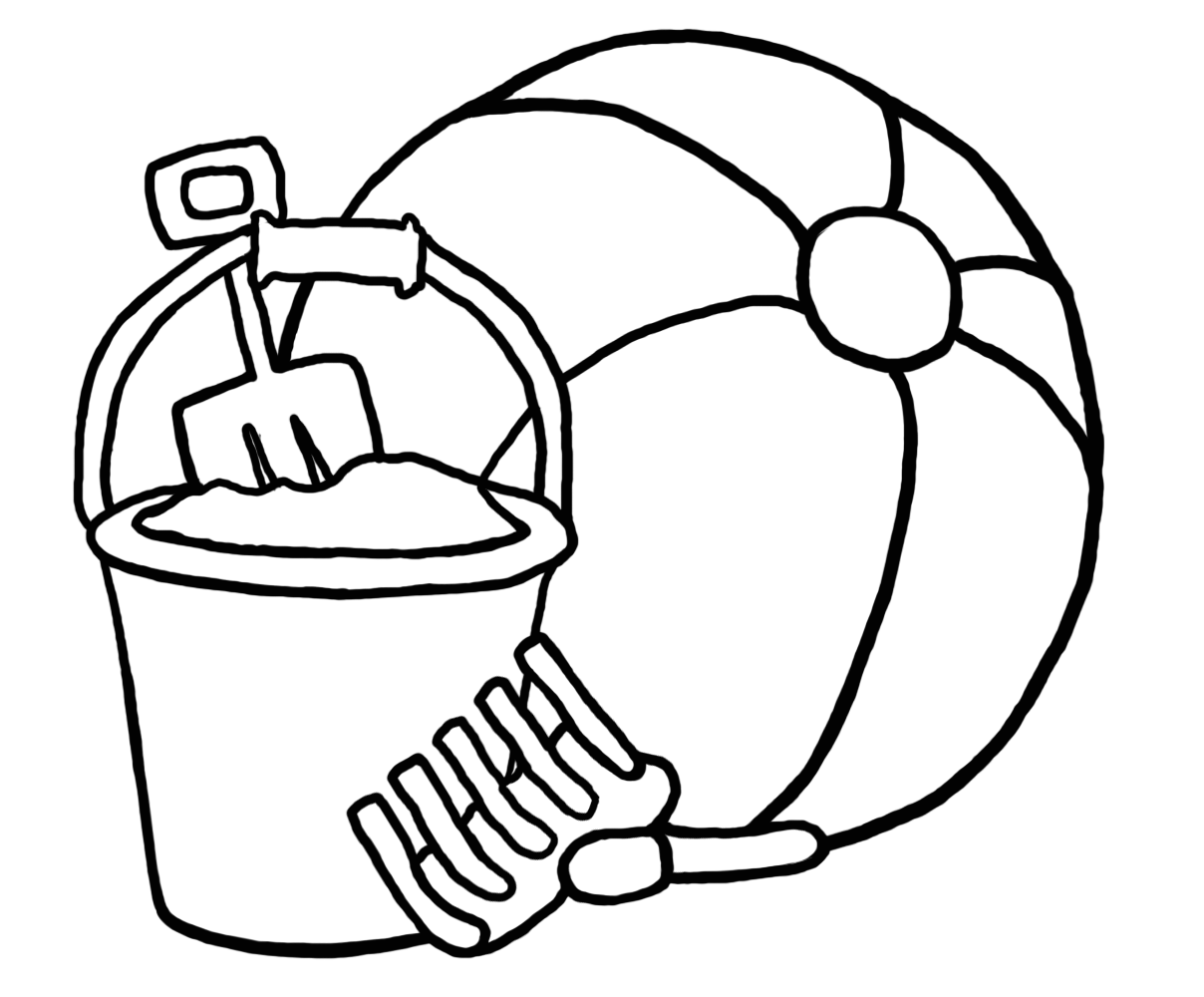 svg transparent download beach colouring pages