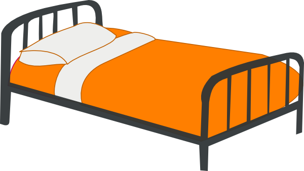 image freeuse stock Bed clipart hotel bed. Red clip art panda.