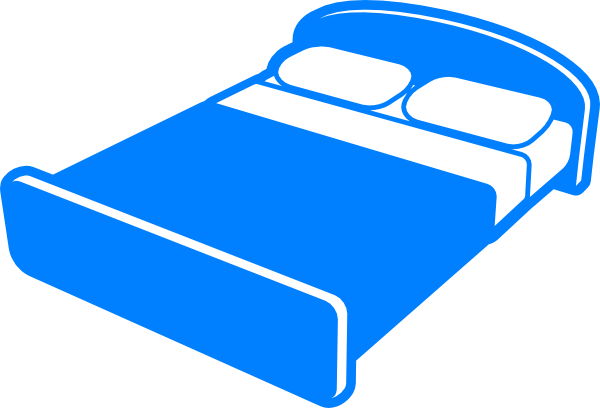 jpg freeuse Clip art at clker. Bed clipart hotel bed.