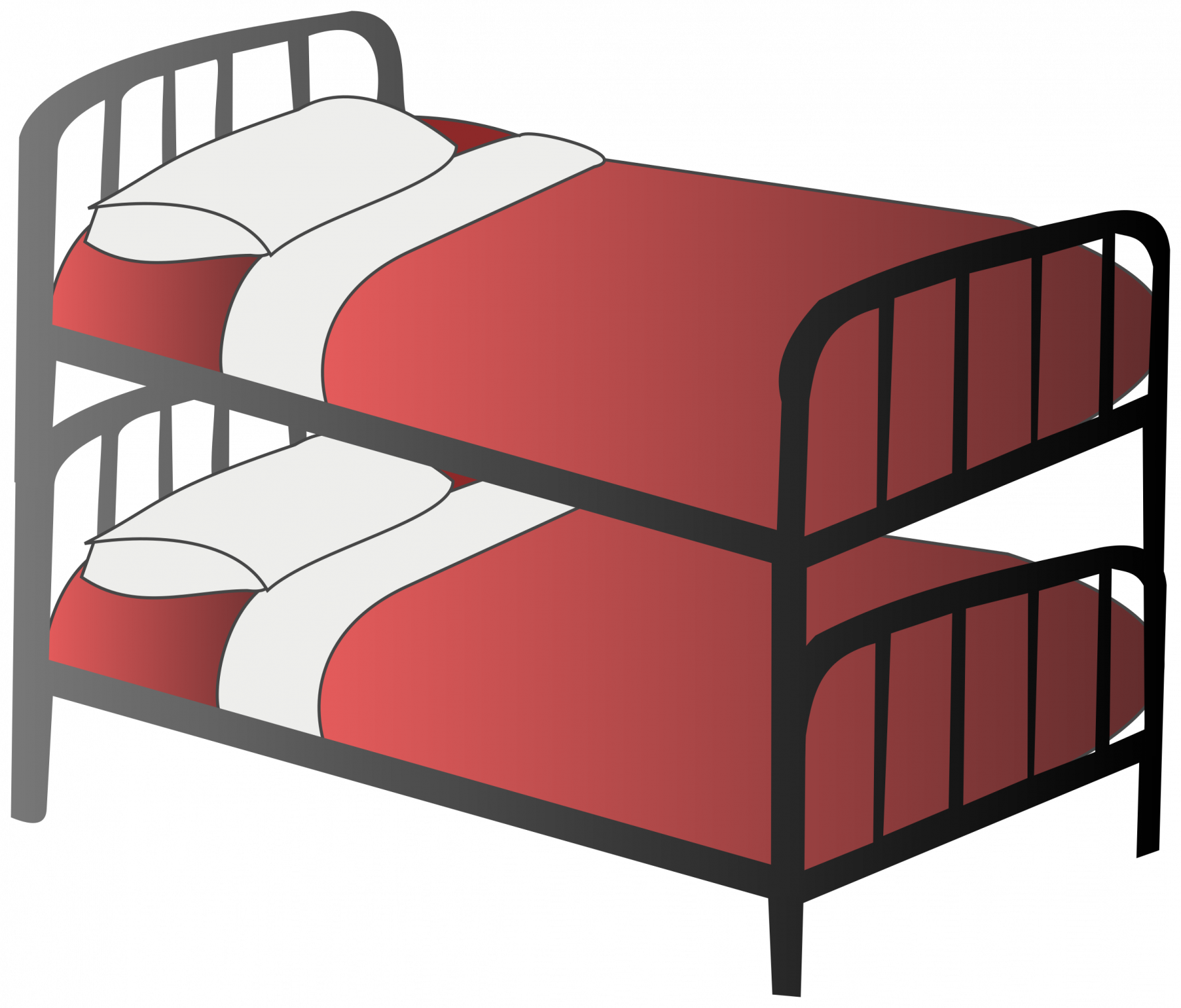 image free stock Bunk bed d redgorilla. Cartoon clipart bedroom.