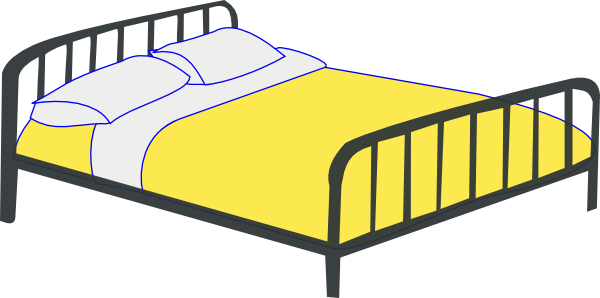clip art freeuse stock Best double bed android. Cartoon clipart bedroom.