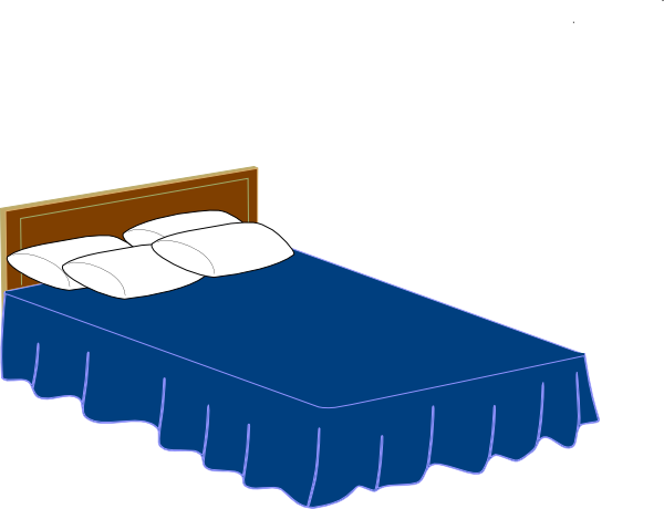 graphic freeuse Bed clipart simple. Crazy blue lessons from.
