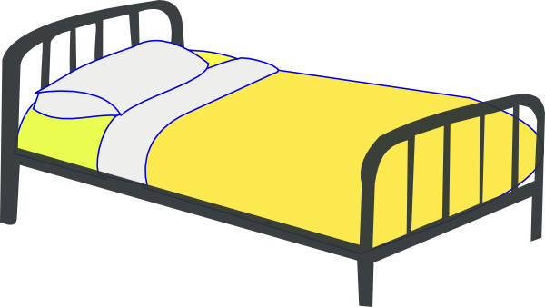 vector free stock Single Bed Clip Art at Clker