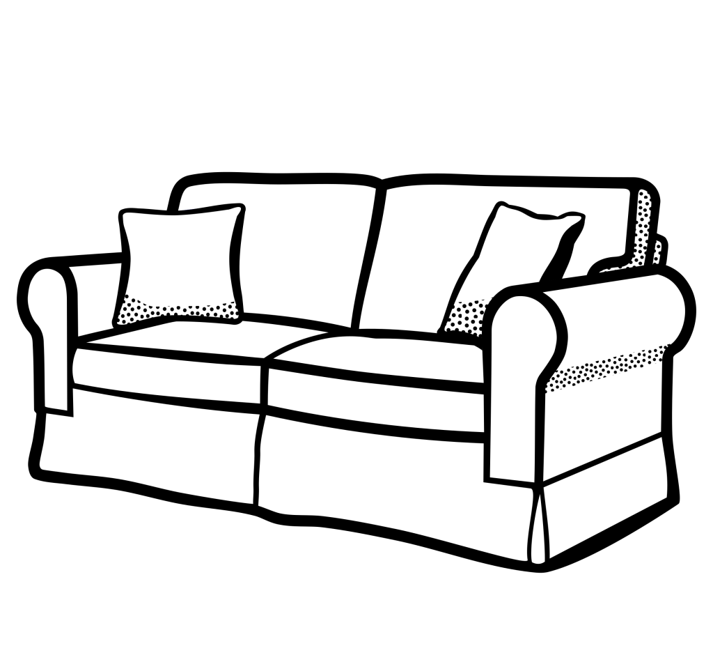 clipart transparent library Baby nursery mesmerizing sofa. Pillow clipart black and white