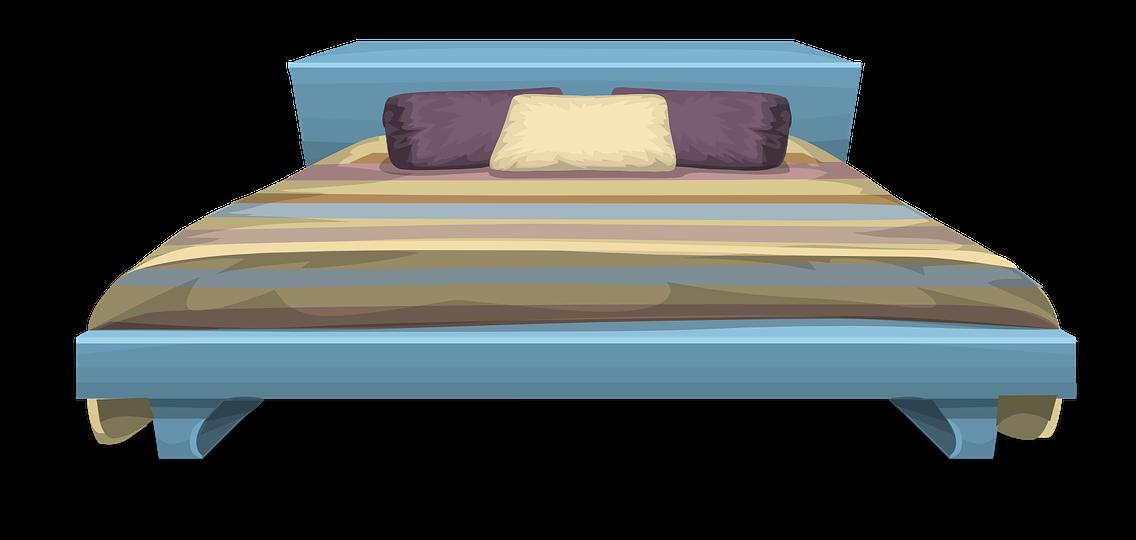 vector library stock Free bed clip art. Bedroom clipart modern bedroom