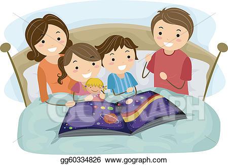 svg download Eps vector stock illustration. Bedtime story clipart