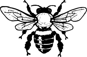clipart library stock Bee clipart. Black and white panda