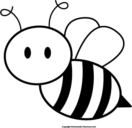 clip art free Honey bee black and. Bumble clipart sketch