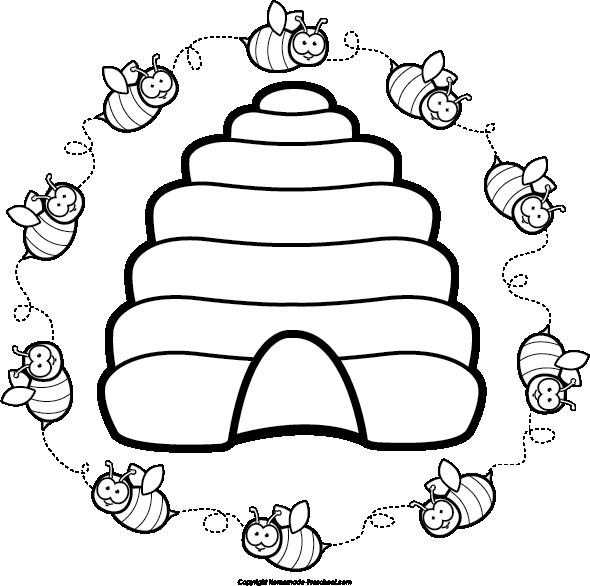 image free library Etc de flor jar. Beehive clipart sketch