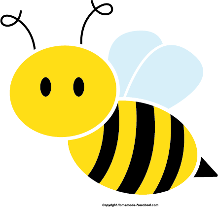picture black and white stock Cute Bee Clipart