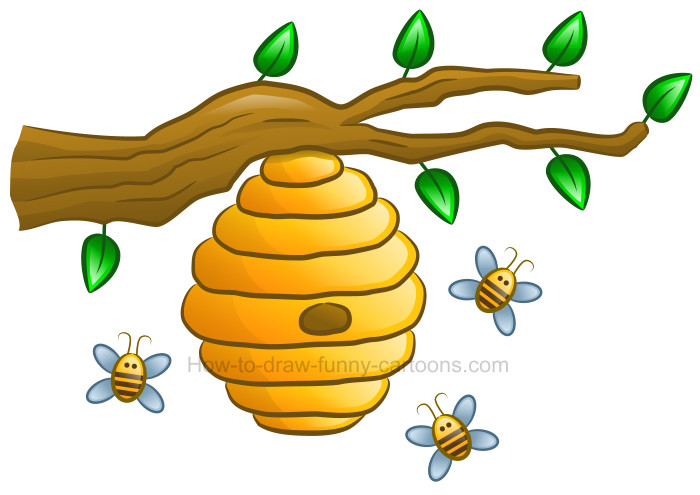 png library Beehive clipart. How to draw a