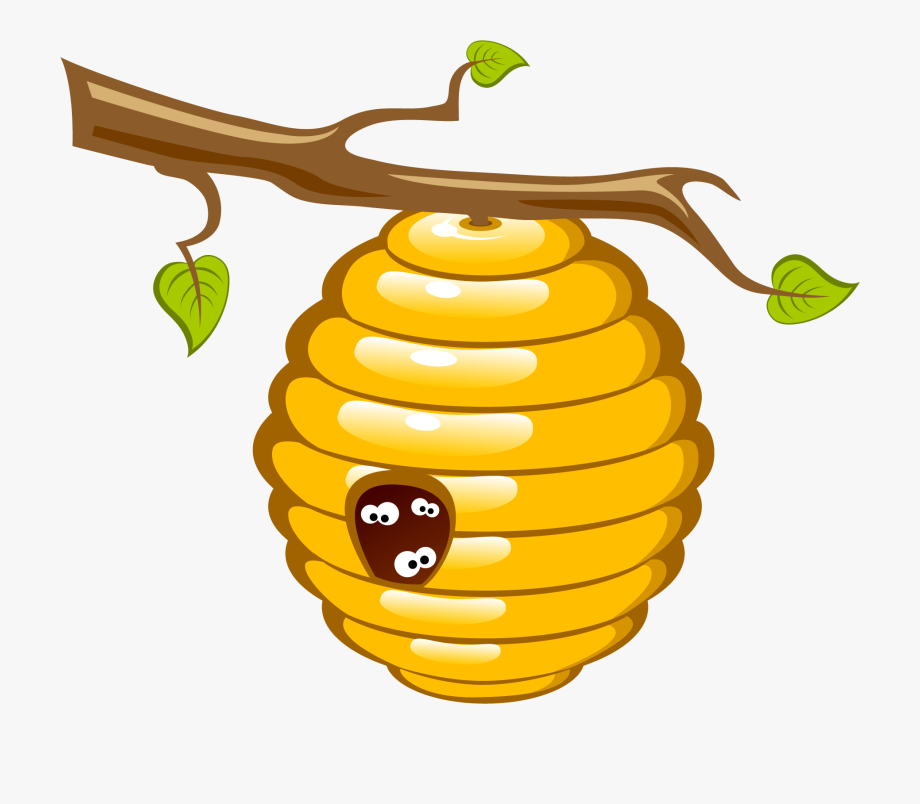 vector free Honey bee clip art. Beehive clipart