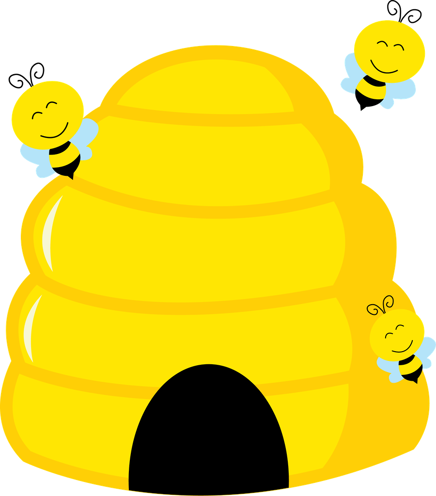 image royalty free download Beehive clipart. Abelhinhas minus bees pinterest