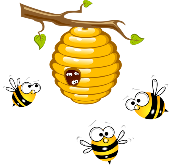 vector black and white library Beehive clipart. Honey bee clip art