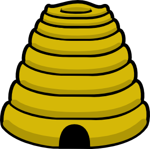 vector free library Bee hive clip art. Honeycomb clipart apiary.