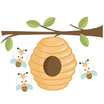 svg download Beehive clipart bee nest. Awesome of in tree.