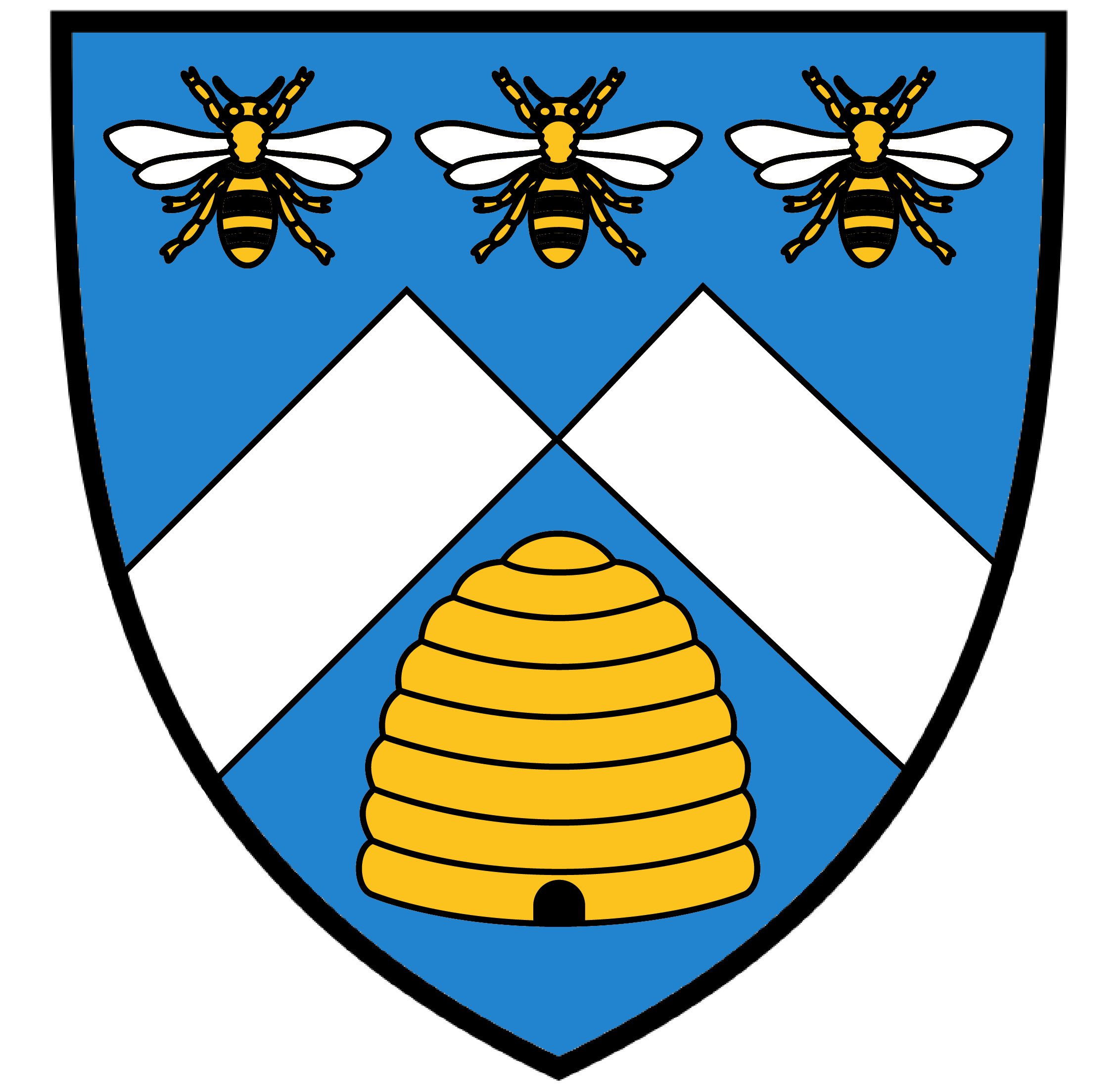 vector freeuse stock Beehive clipart deseret. Personal assumed arms azure.